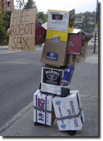 transformer de papelão, free robot sex
