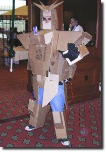 Transformer de papelão gundam