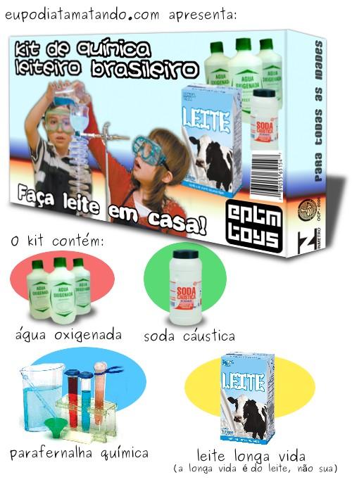 Eupodiatamatando apresenta o kit de química leiteiro brasileiro