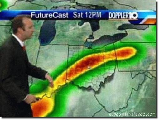 Agora a previsão do tempo