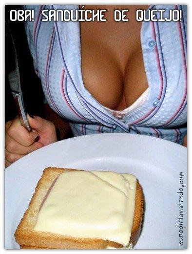 Oba! Um sanduíche de queijo