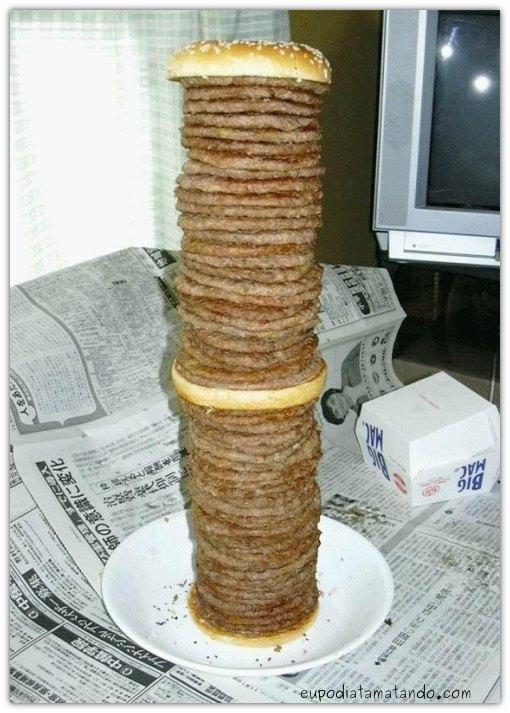 Sanduiche gigante de hamburguers