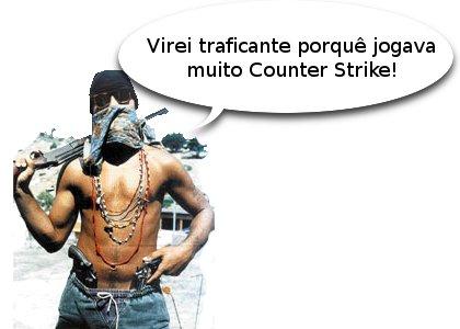 Traficante armado explica: virei traficante porque jogava muito Counter Strike