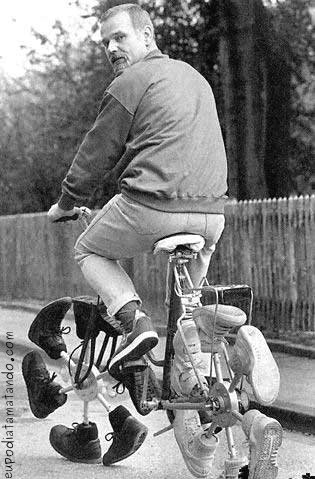 Bicicleta de sapatos