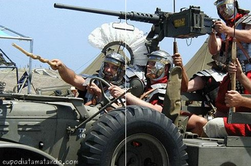 cavalaria romana de jeep