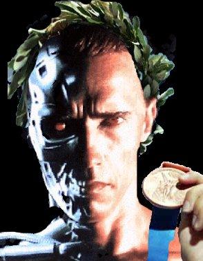 exterminador do futuro ganha medalha de ouro