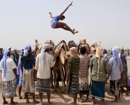 Salto sobre camelos